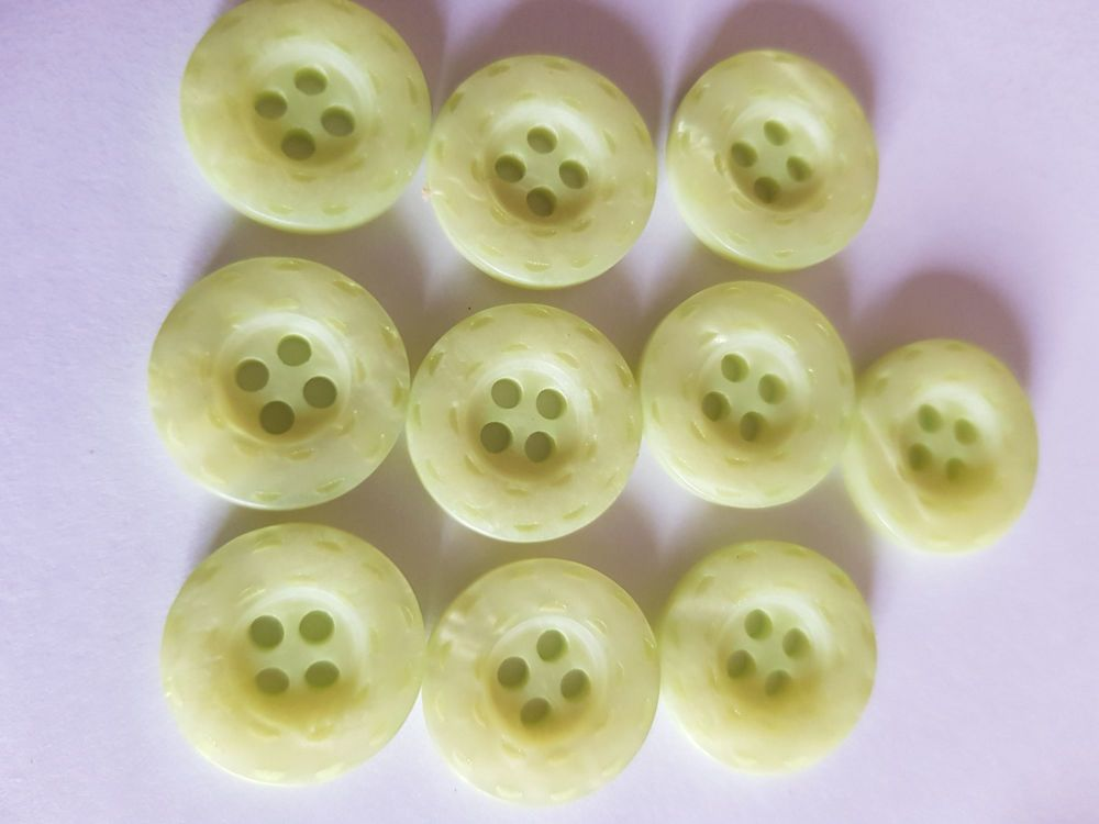 Lime Marl (Pale) Buttons 15mm (Pack of 10)LY70