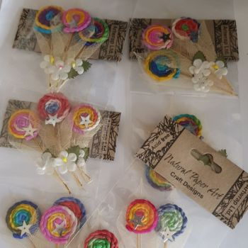 FLOWERS - Craft String Circles (Pack of 3) This will be a Random Pick as so many variations
