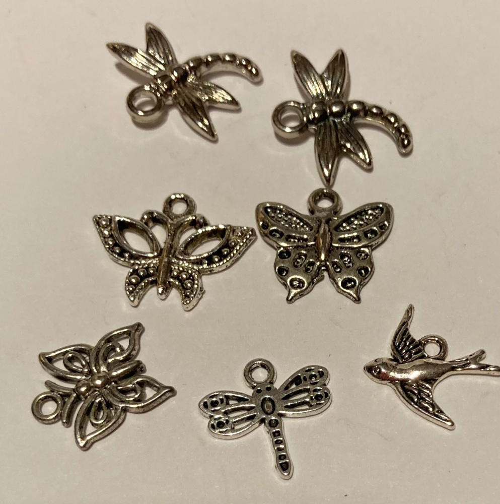 Bird / Insects Charms (Pack of 6)