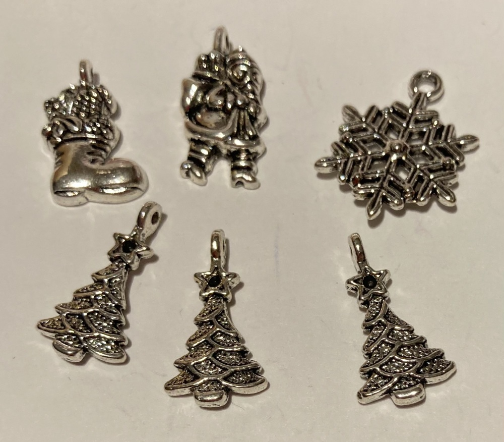 Christmas Charms - as shown (Pack of  6) CH211