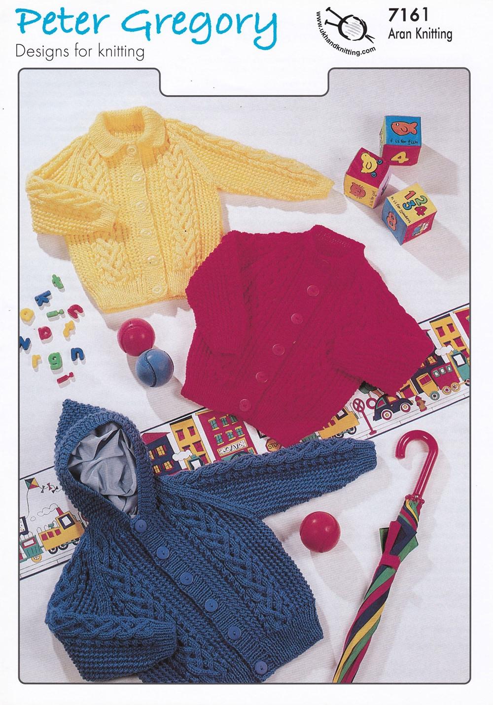 Childrens Knitting Pattern Aran Cardigan / Jumper PG7161