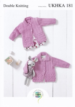 Childrens Knitting Pattern Cardigan / Jacket UKHKA181