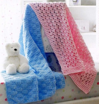 Childrens Knitting Pattern Blanket JB173