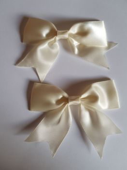Cream/Ivory  Bow 80mm (Pack of 3)