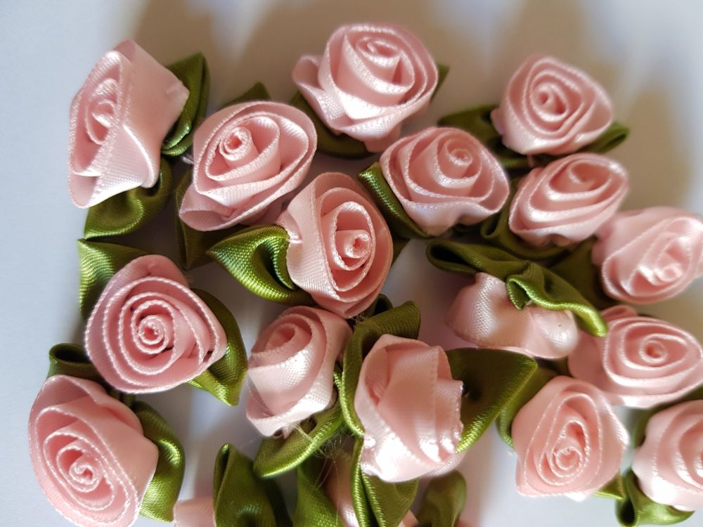 Ribbon Roses - Pink (Pack of 6)