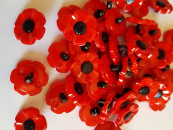 Poppy Button 18mm each