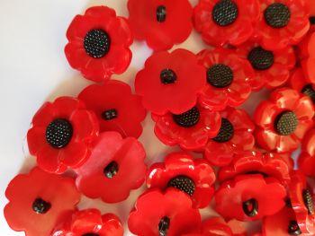 Poppy Button 21mm each