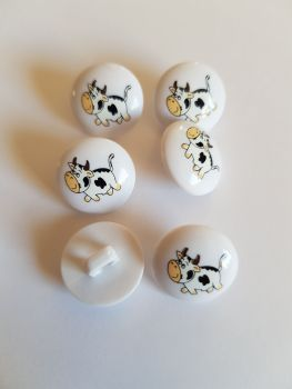 Cow Button 15mm ( Pack of 6)