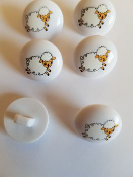 Sheep Button 15mm ( Pack of 6)