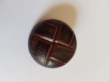Dark Brown Leather Look Shank Button 30mm (each)