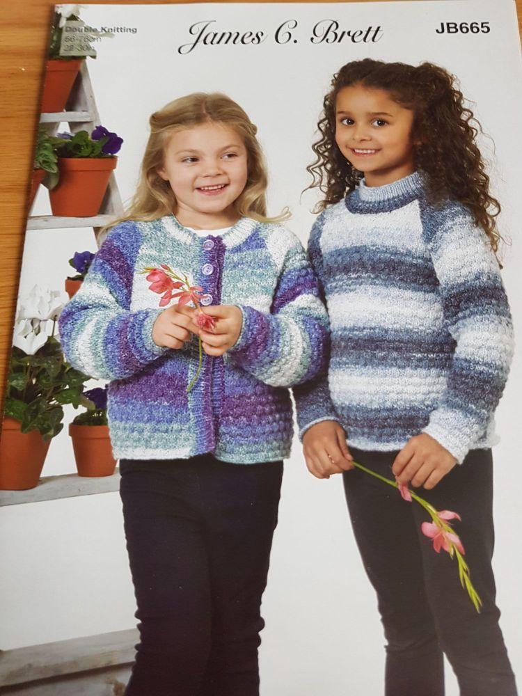 Childrens Knitting Pattern  Cardigan / Jumper JB665