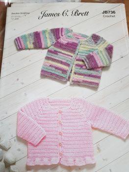 Childrens Crochet Pattern Cardigans JB736