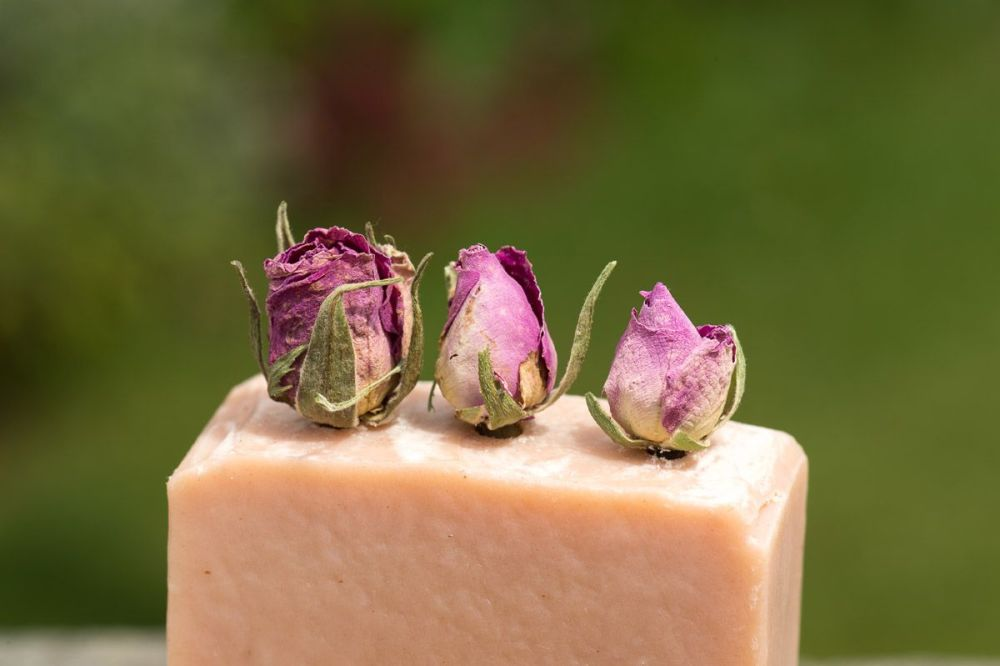 Rose topped soap