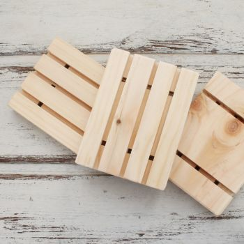 Natural Wooden Soap Dishes