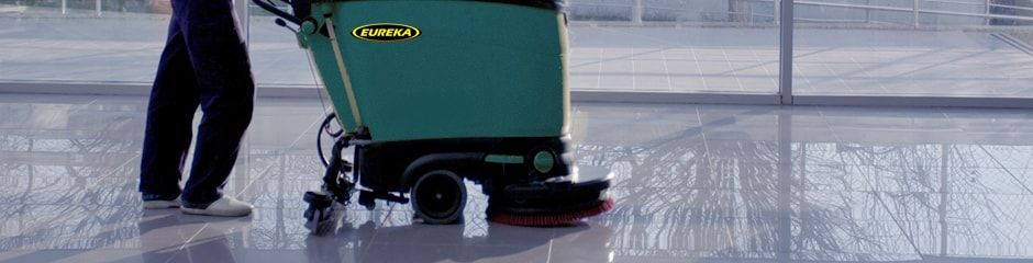 Eureka Scrubber Dryer with operator