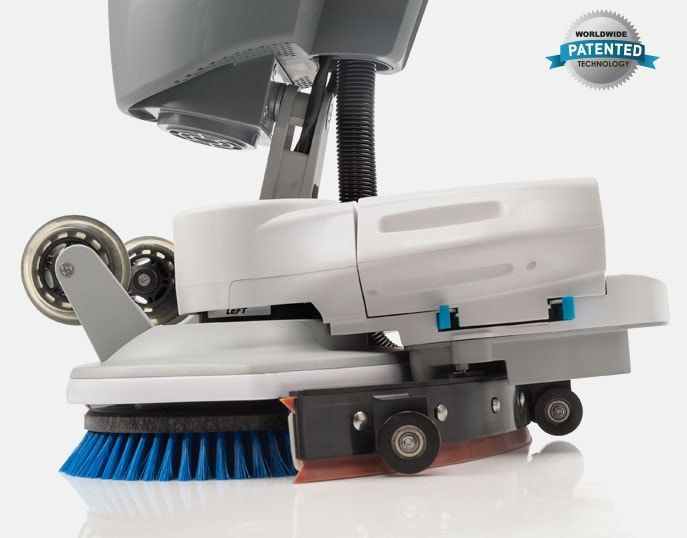 a close up of the imop scrubber dryer