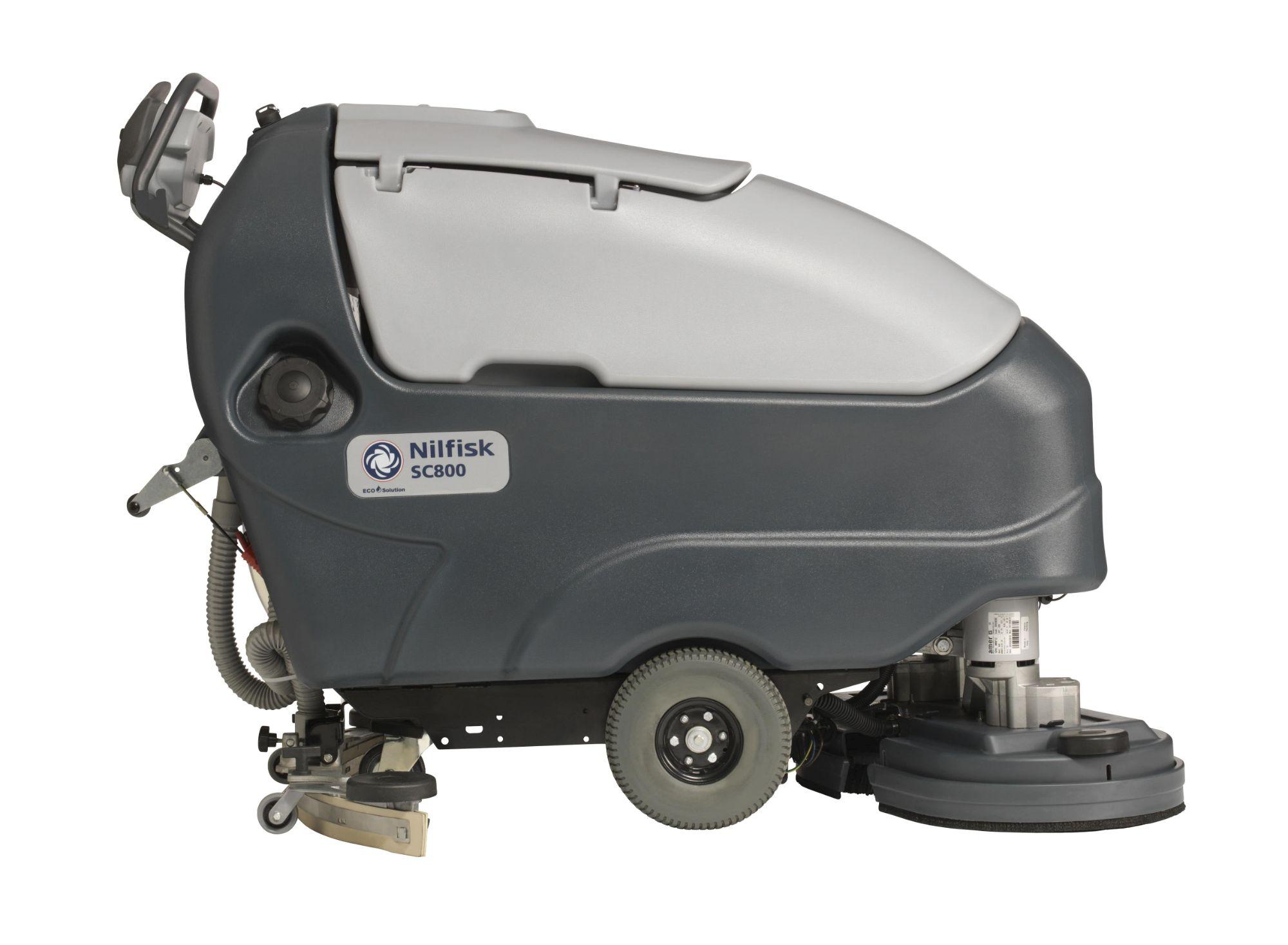 Nilfisk SC800 Pedestrian Scrubber Dryer Side-min