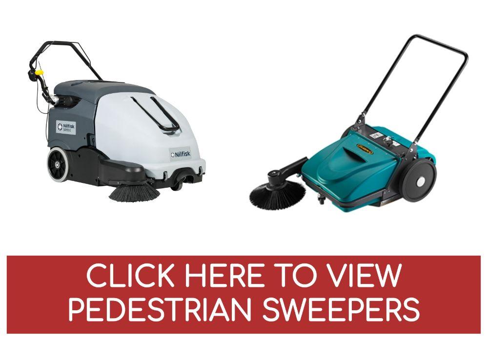 Pedestrian Walk Behind Sweepers