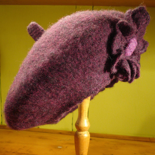 Floppy purple beret