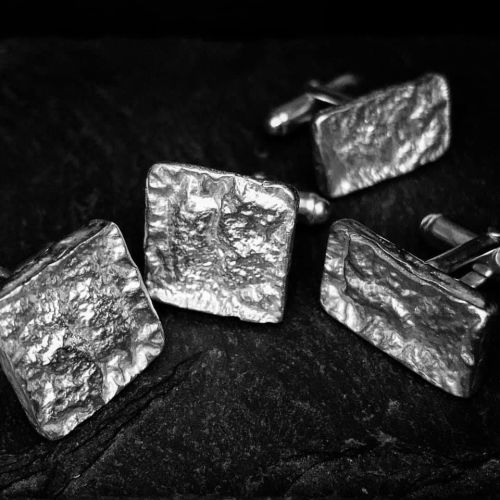 Square Bark cufflinks