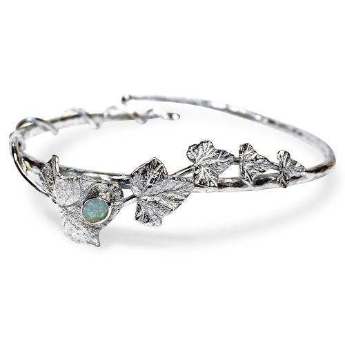 Ivy Leaves Bracelet with 6mm x 4mm Opal