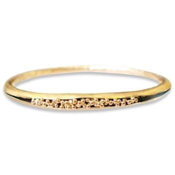 Moon Shadow Seed Pod bracelet, 9ct gold