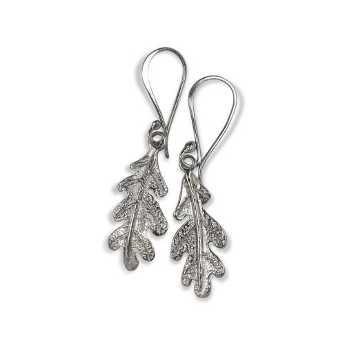 Small Oak leaf drop earings