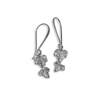 Trailing Ivy leaves drop earings, small