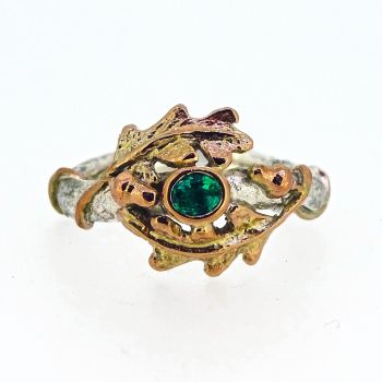 Entwining Oak leaves and Acorns ring