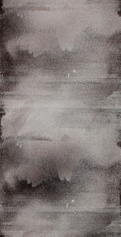 Echo #10 - Monoprint on off-white Japanese paper (image 430 x 200 mm on a2 paper)