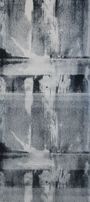 Echo #21 - Monoprint on off-white Japanese paper (image 430 x 200 mm on a2 paper)