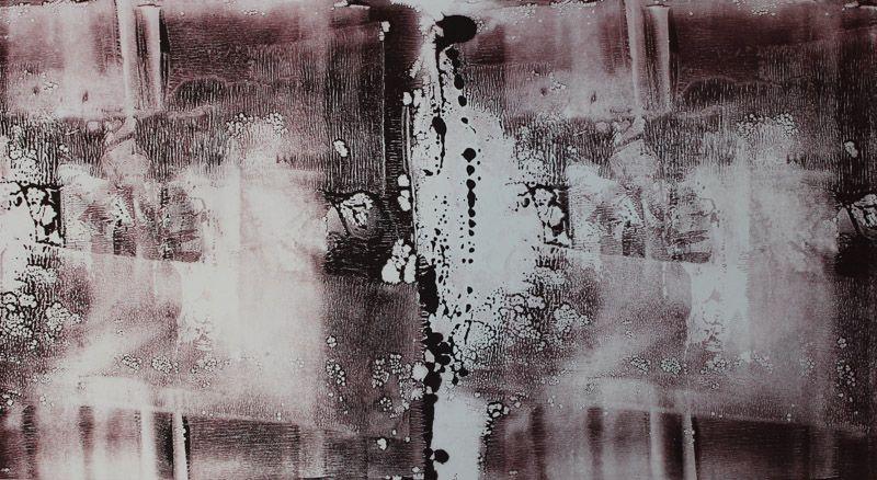 Echo #25 - Monoprint on Surrey catridge paper (image 300 x 640 mm on a1 paper)