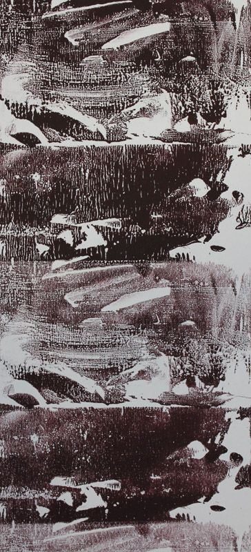 Echo #31 - Monoprint on off-white Japanese paper (image 430 x 200 mm on a2 paper)