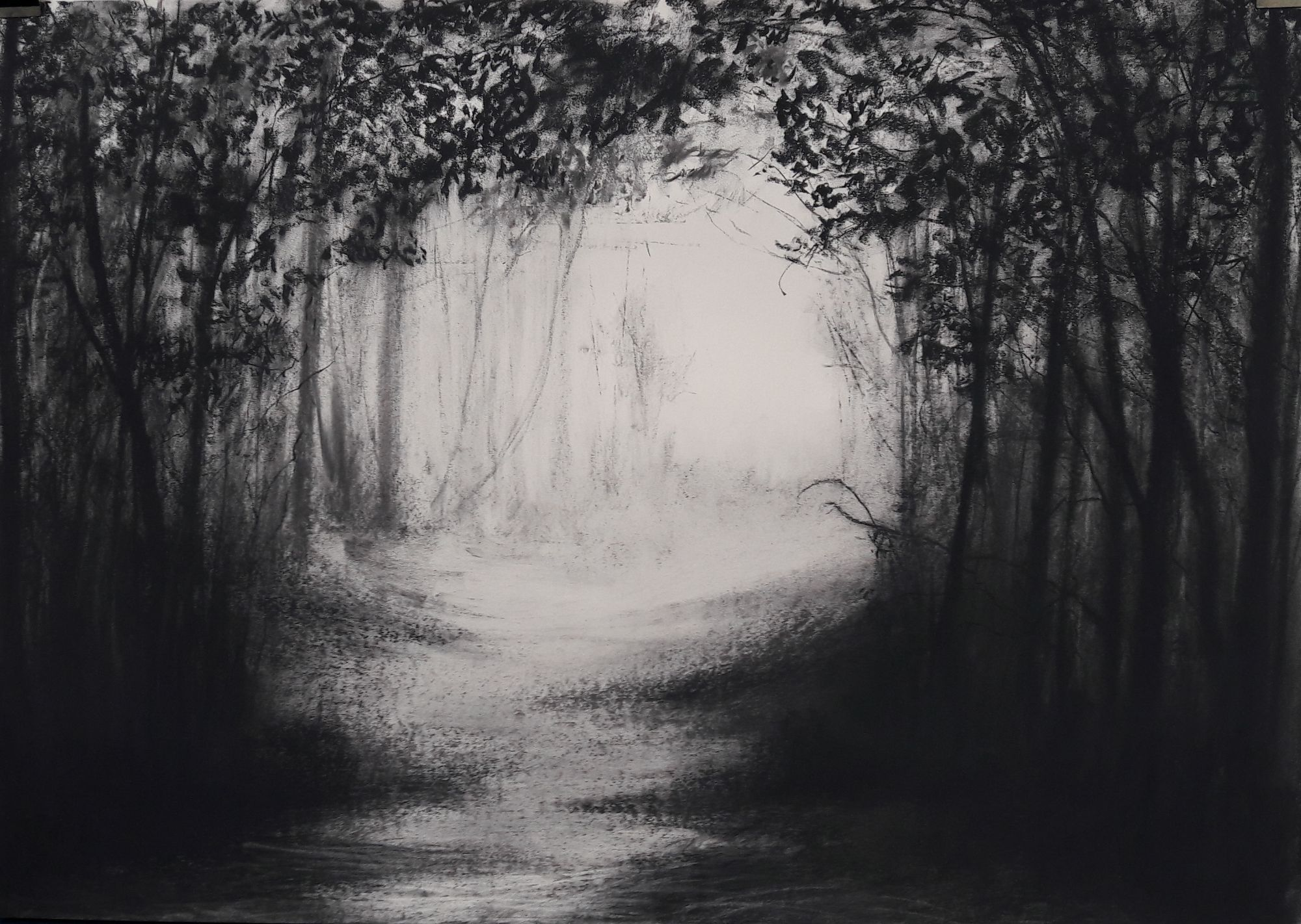 Jupiter Point #2 - Charcoal on Surrey cartridge paper (594 x 841 mm)