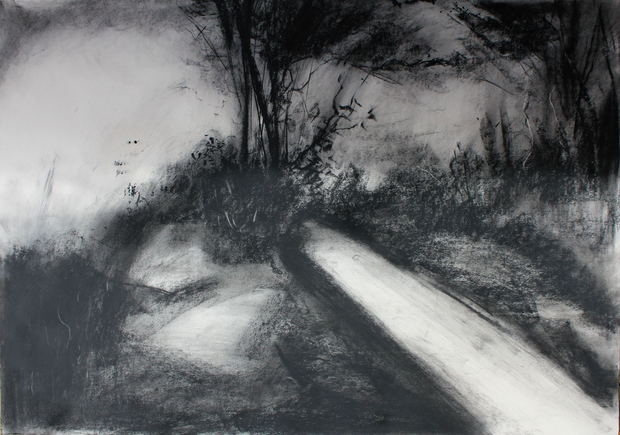 Maker Walk E - Charcoal on Surrey cartridge paper (594 x 841 mm)