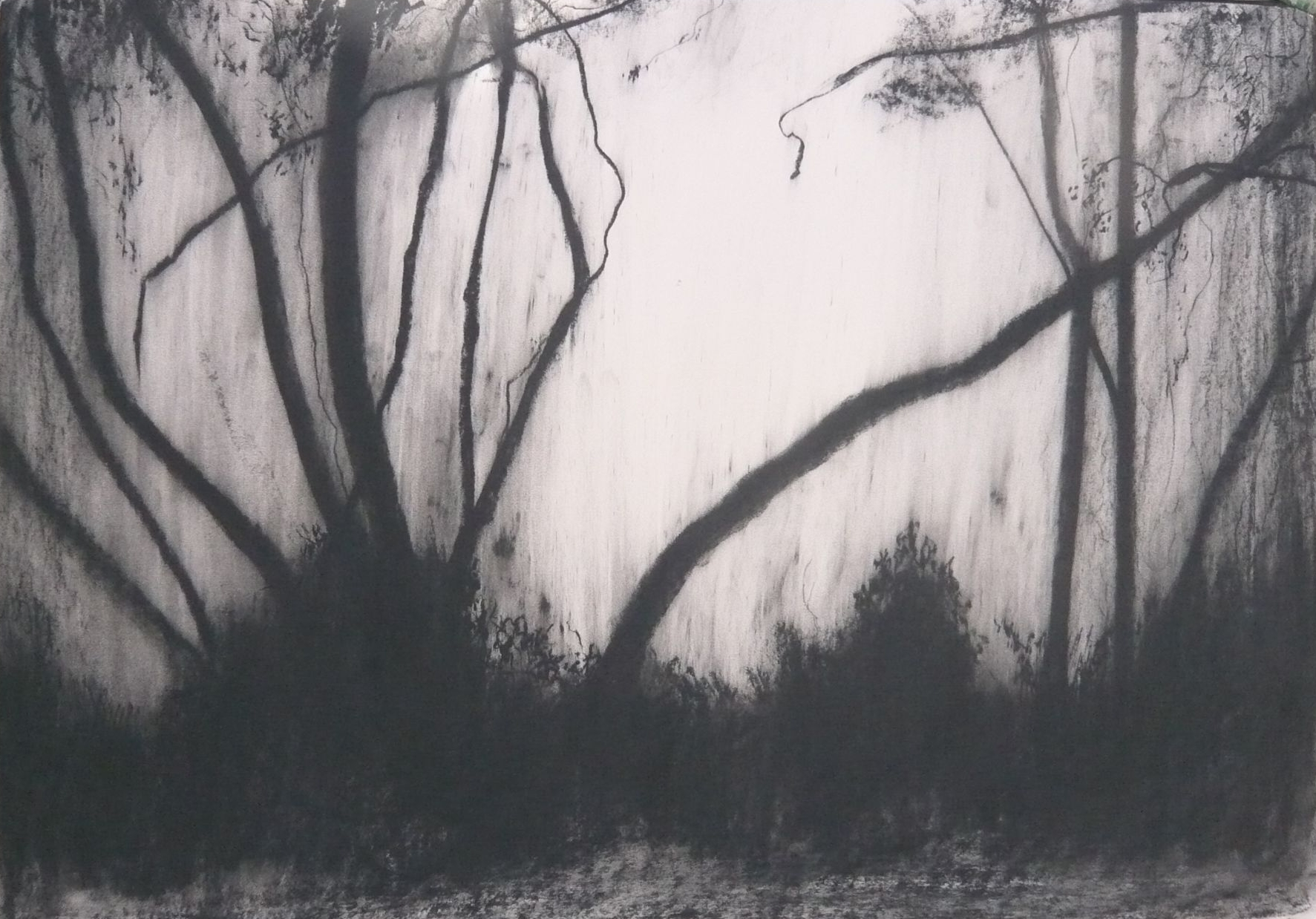 Maker Walk ENE #1 - Charcoal on Surrey cartridge paper (594 x 841 mm)
