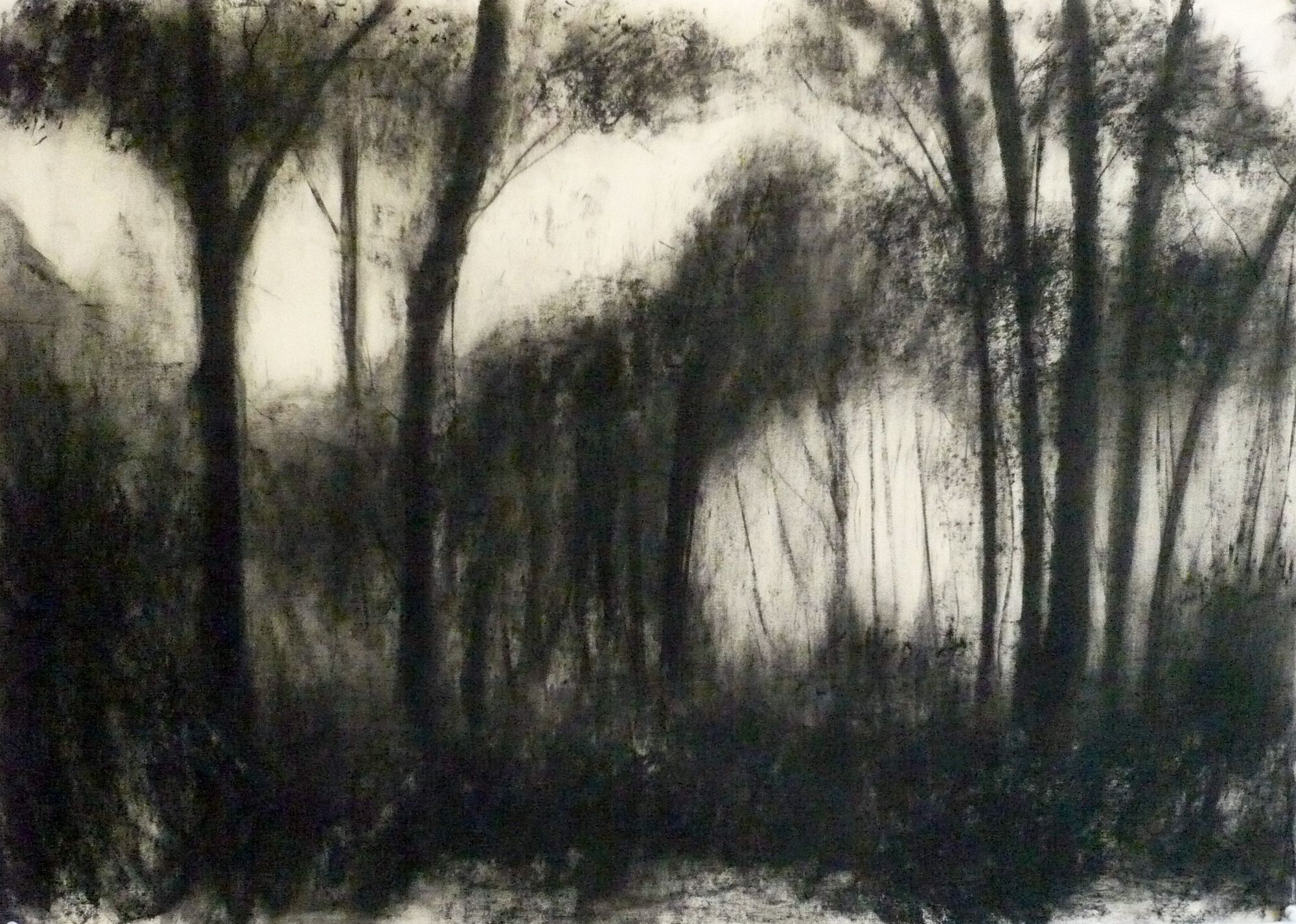 Maker Walk ENE #4 - Charcoal on Surrey cartridge paper (594 x 841 mm)