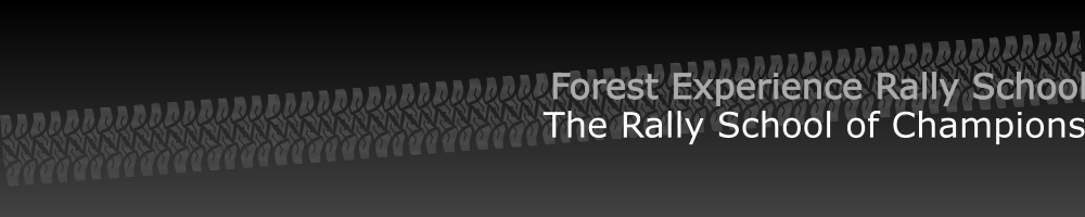 Forest Experience Rally School, site logo.