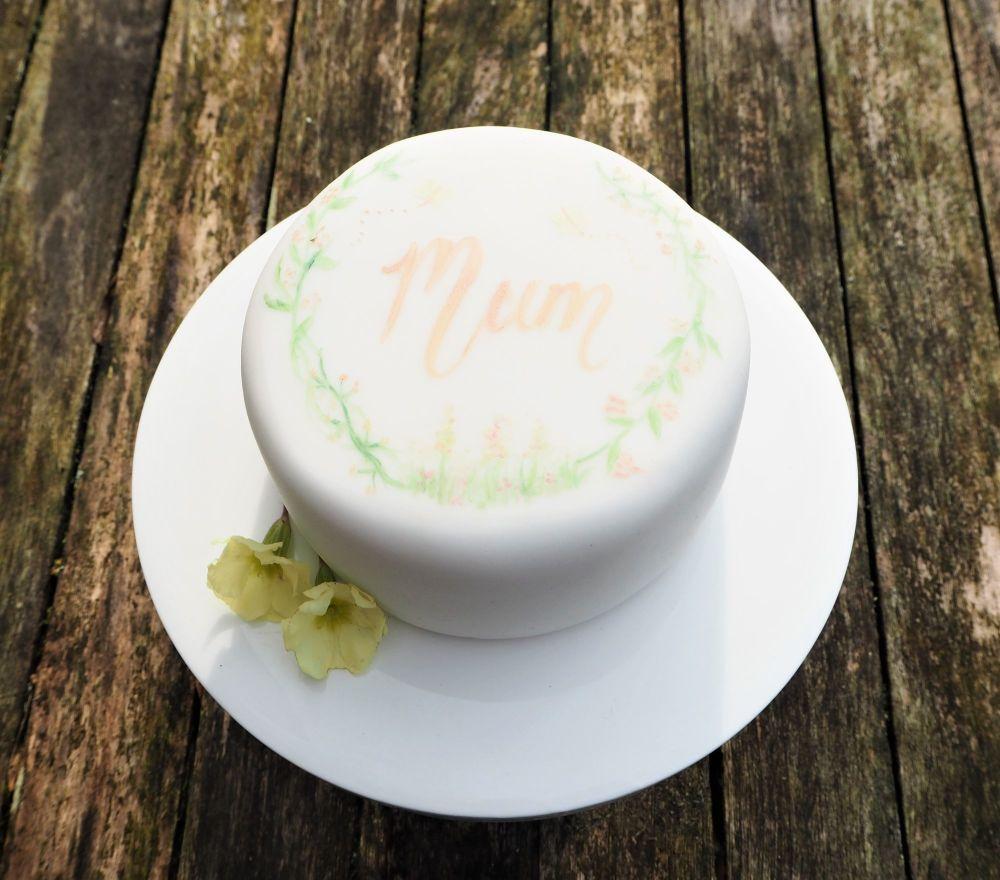 Hand painted mini cake 450g