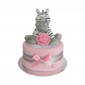 Zebra Girls Nappy Cake
