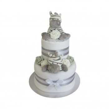 Baby Zebra Two Tier Nappy Cake