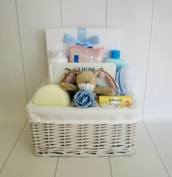 Baby Essentials Bunny Baby Boy Hamper