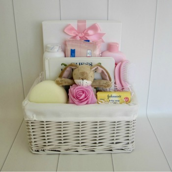 Baby Essentials Bunny Baby Girl Hamper