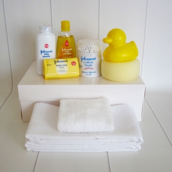 Baby Bath Time Essentials Hamper Gift Box