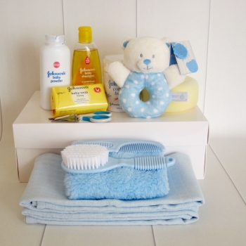 Baby Boy Bath Time Hamper Box
