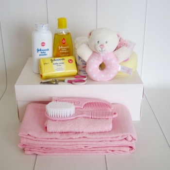 Baby Girl Bath Time Box