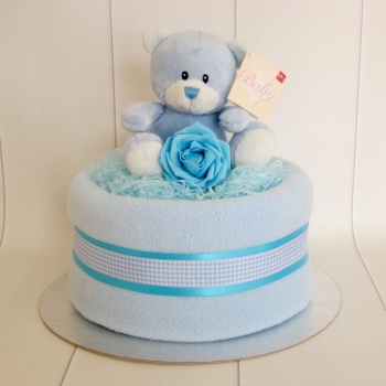 Teddy Baby Boy Nappy Cake