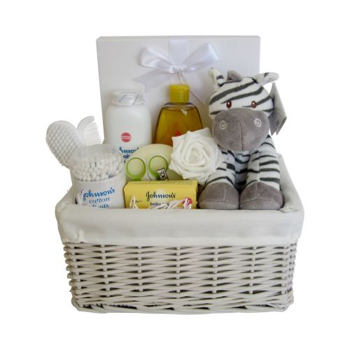 Baby Essentials Zebra Unisex Hamper