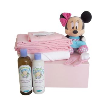 Bath Time Hamper Box With Minnie Mouse