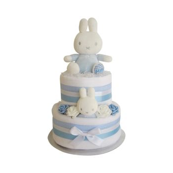 Miffy Baby Boy Nappy Cake